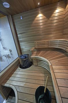 Cozy Sauna Shower Combo Decorating Ideas - Page 9 of 32 Portable Steam Sauna, Sauna Steam Room, Sauna Room, Saunas, Sauna Lights, Building A Sauna, Sauna Shower, Sauna Design, Pool Finishes