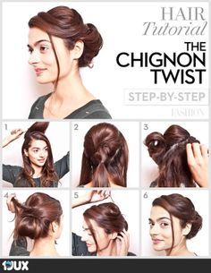 Chic Chignon hairstyle is perfect for you, if you want to special hairdo for a party or occasion. Chignon hairstyle gives a unique look to your hair. Pretty Hairstyles, Easy Hairstyles, Wedding Hairstyles, Party Hairstyle, Style Hairstyle, African Hairstyles, Hairdos, Fancy Ponytail, Coiffure Hair