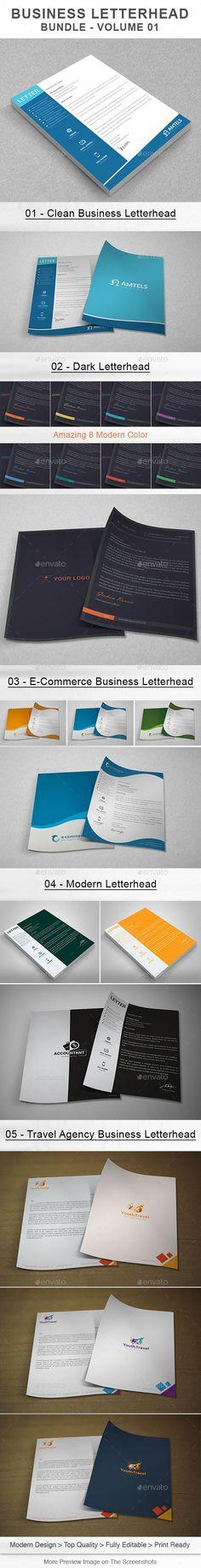 Business Letterhead Bundle | Volume 01