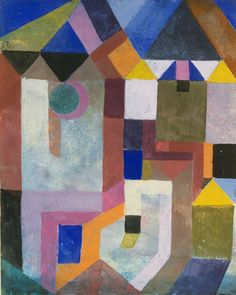 """met-modern-art: """" Colorful Architecture by Paul Klee, Modern and Contemporary Art Medium: Gouache on paper mounted on cardboard The Berggruen Klee Collection, 1984 Metropolitan Museum of Art, New. Wassily Kandinsky, Modern Art, Contemporary Art, Paul Klee Art, Illustration Art, Illustrations, Guache, Canvas Prints, Art Prints"""
