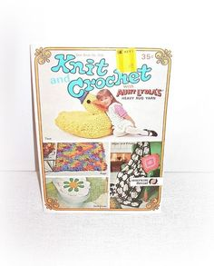 Knit Crochet Aunt Lydia's Booklet American Thread Knit Crochet Patterns Flowers Pillows Toys Rugs Afghans American Thread Patterns by ICreateAndCollect on Etsy