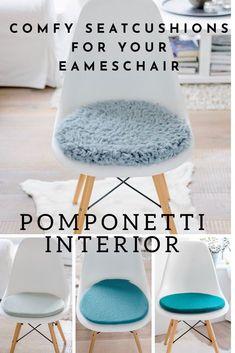 Tolle Farbkombinationen Mit Dem Taubenblauen Kuschelll, Sitzkissen Für  Eameschair #eamescushion #etsy #eamessitzkissen