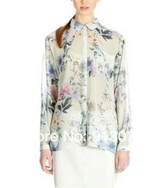 ST1808 New Fashion Ladies' elegant vintage floral print blouse shirt long sleeve shirt casual slim brand designer tops $12.27