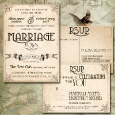 Printable Vintage Wedding Invitations - Retro...