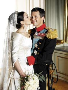 Crown Princess Mary & Crown Prince Frederik of Denmark on their Wedding day