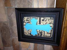 Framed burlap picture - easy craft!