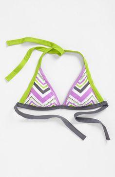 BCA Chevron Stripe Halter Bikini Top available at #Nordstrom