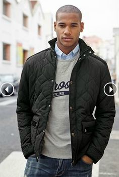 Black Quilted Jacket from nextdirect.com