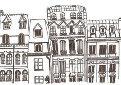 I love line drawings/illustrations of houses. This one is by Georgina Fineman