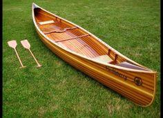 Handmade wood canoe