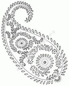 Resultado de imagem para hand embroidery designs for neck Paisley Embroidery, Hand Embroidery Design Patterns, Embroidery Motifs, Flower Embroidery Designs, Paper Embroidery, Indian Embroidery, Vintage Embroidery, Cross Stitch Embroidery, Bordado Paisley