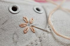 DIY Embroidered Canvas Shoes | Motte's Blog Tangled, Upcycle, Diy, Quilts, Embroidery, Canvas, Sewing, Creative, Crafts