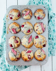 Raspberry-Rhubarb Muffins (recipe) / by Foodess