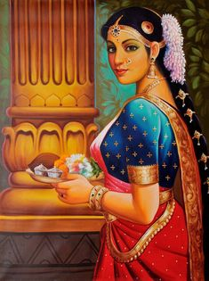 Art - india india painting, online painting, woman painting, female art, in Tanjore Painting, Krishna Painting, Krishna Art, Indian Women Painting, Indian Art Paintings, Oil Paintings, India Painting, Woman Painting, Online Painting