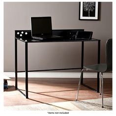 Mercer Metal & Glass Desk with Power & USB Outlets at 37% Savings off Retail!