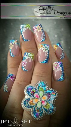 Discover recipes, home ideas, style inspiration and other ideas to try. Pretty Nail Designs, Pretty Nail Art, Beautiful Nail Art, Fingernail Designs, Toe Nail Designs, Acrylic Nail Designs, Stylish Nails, Trendy Nails, Finger Nail Art