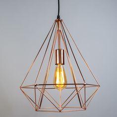 Pendant Lamp Carcass Copper