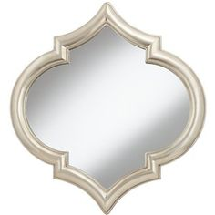 "Champagne Silver Marrakesh 35 1/4"" High Decorative Mirror"