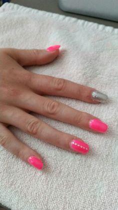 Silver Pink glitter