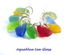 10 Sea Glass  TINY   Top Drilled English  Sea by aquablueseaglass, $22.99