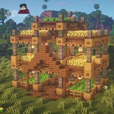 Minecraft Stables, Casa Medieval Minecraft, Minecraft House Plans, Minecraft Farm, Minecraft Cottage, Cute Minecraft Houses, Minecraft Funny, Minecraft Survival, Minecraft Blueprints