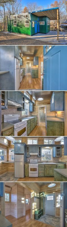 Container House Made from two 20' repurposed steel shipping containers, the Happy Twogether provides a more traditional house layout than a tiny house on wheels. Who Else Wants Simple Step-By-Step Plans To Design And Build A Container Home From Scratch? #tinyhomeplansonwheelslayout #tinyhouselayoutplans #shippingcontainerhomes #tinyhomeonwheelsplans #tinyhouseplansonwheels