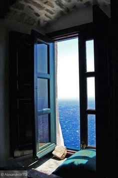 View from Panagia Hozoviotissa monastery in Amorgos island