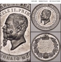 Vittorio Emanuele II Whitemetal Medal at kollectbox.com from Jeremy Bostwick Sign up at http://app.kollectbox.com/users/register  #medals   #antiquities   #collectors   #collectibles   #hobby   #marketplace   #ecommerce   #startup   #tech   #buy   #sell