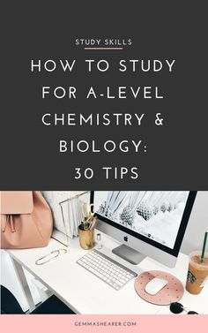 30 study tips for A-level Chemistry and Biology. This huge guide will help you study in an exam-focused way, make sure you're using the right resources, help you prepare for the exams, get organised and stay motivated. Best Study Tips, Exam Study Tips, Exams Tips, School Study Tips, Study Skills, Revision Tips, Chemistry Revision, Chemistry Help, Chemistry Study Guide