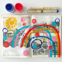 Lisa Congdon - Made some time yesterday to muck around in my Messy Sketchbook #lcongdonsketchbook