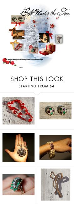 """""""Huge Etsy Sale!  Gifts for Under the Tree!"""" by starshinevintage ❤ liked on Polyvore featuring Liz Palacios and vintage"""