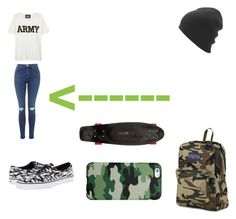 """KEEPING UP WITH THE TRENDS #7"" by candygirl156 ❤ liked on Polyvore featuring NLST, Vans, JanSport and Quiksilver"