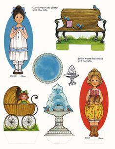 Ginghams Paper Dolls  Visit Terri Pettit's website for whole books to print.