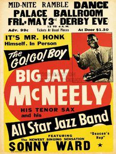 MUSIC CONCERT ADVERT BIG JAY MCNEELY JAZZ SAX FINE ART PRINT AFICHE CARTEL IMPRIMIR POSTER BB6755B: Amazon.es: Hogar