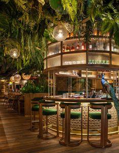 Amaznico the Rainforest Themed Restaurant and Weald - Weald Refrigeration Deco Restaurant, Restaurant Interior Design, Cafe Interior, Restaurant Concept, Victorian Bath House, Turkish Bath House, New York Bar, Café Bar, Newport
