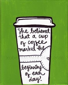A cup of coffee marked the beginning of each day. #coffee #quotes