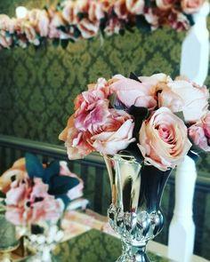 Rose design for babyshower  #vase #rose #pink  MİOLA DAVET VE ORGANİZASYON 0224 999 5 333
