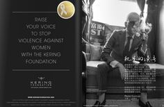 Pierre Gervois, Publisher of the STC magazine and CEO of China Elite Focus Magazines LLC supports the Kering Foundation against violence to women.