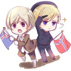 Hetalia - Iceland and Norway