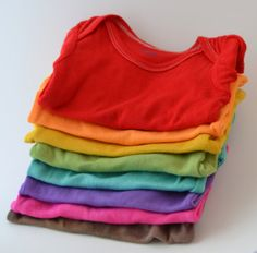 HandDyed Clothing for Baby   8 Longsleeved by RutabagaClothingCo, $80.00