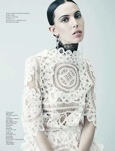 black tie white noise: ruby aldridge by ralph mecke for french revue de modes!