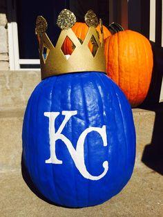 KC Royals Pumpkin, fun weekend project.  Take the crown!