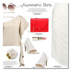 """""""Asymmetric skirt"""" by paculi ❤ liked on Polyvore featuring Rick Owens, Mr. Coffee, asymmetricskirts and 60secondstyle"""