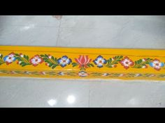 Design Discover Gadapa Muggulu Live Designing With Painter Phone Number Rangoli Borders, Rangoli Border Designs, Beautiful Rangoli Designs, Free Hand Rangoli Design, Small Rangoli Design, Boarder Designs, Wall Painting Decor, Muggulu Design, Simple Rangoli