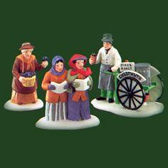 """Dickens' Village - """"Violet Vendor/Carolers/Chestnut Vendor"""" - 1989-1992"""