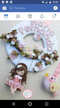 Baby name room decor Felt Fox, Felt Baby, Felt Wreath, Felt Garland, Felt Fabric, Fabric Dolls, Baby Decor, Kids Decor, Felt Crafts