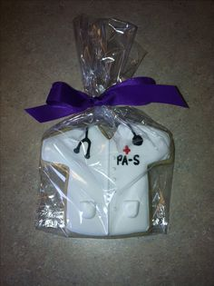 White Coat (Physician Assistant) Cookie ~ Perfect for my Cardiology PA except it should read PA-C because she is no longer a student and is board-certified!  :)