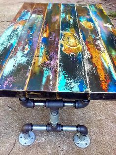 Items similar to reserved for Roseanna's deposit for Faux bronze patina abstract on reclaimed vintage door wood with door plate. on Etsy Reclaimed Wood Door, Wood Door Frame, Reclaimed Vintage, Reclaimed Wood Coffee Table, Wood Doors, Barn Wood, Door Coffee Tables, Painted Coffee Tables, Wood And Metal Table