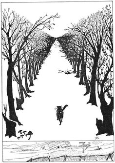The Cat that Walked by Himself illustration by Rudyard Kipling for his tale of the same name: http://m.youtube.com/#/watch?v=9IbTHL-AXH8_uri=%2Fwatch%3Fv%3D9IbTHL-AXH8
