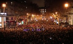 JE SUIS CHARLIE Charlie Hebdo attack vigils. FRENCH OUTPOURING OF RAGE AT THE KILLINGS.